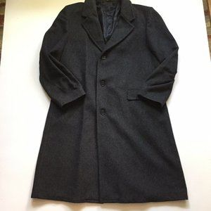 CasualCraft Gray Wool Blend Overcoat Mens Classic